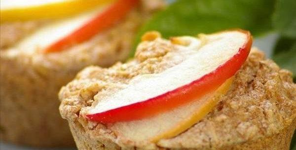 Cupcake de aveia e maçã com baixa caloria