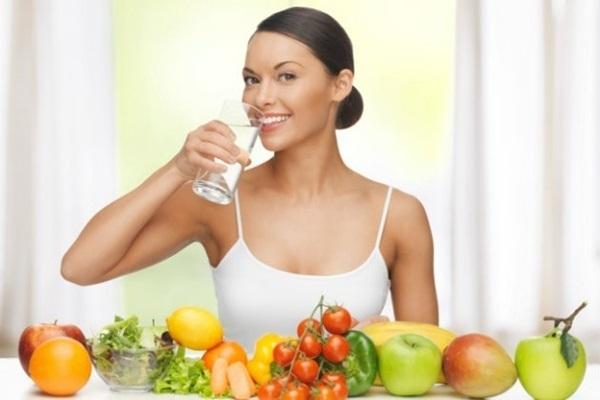 agua nos alimentos