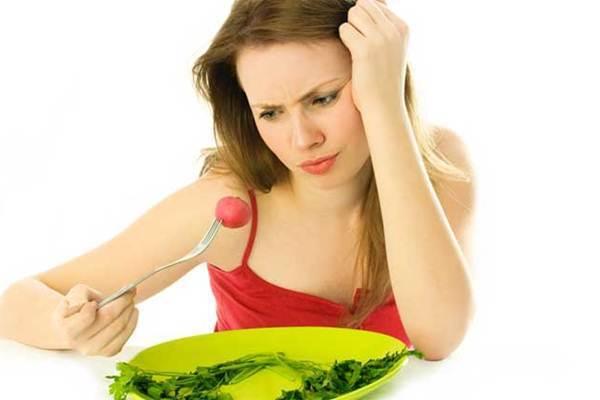 pensamentos negativos na dieta